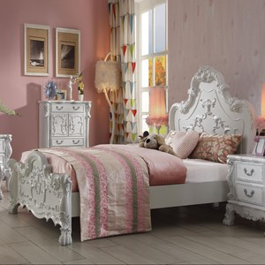 Traditional European Style Full Size Bed
