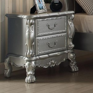 Traditional European Style Kid's Bedroom Nightstand with 2 Felt-Lined Drawers