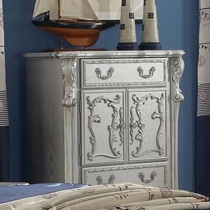 Traditional European Style Kid's Bedroom Chest with 2 Doors