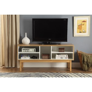 Contemporary Console Table with Open Shleving