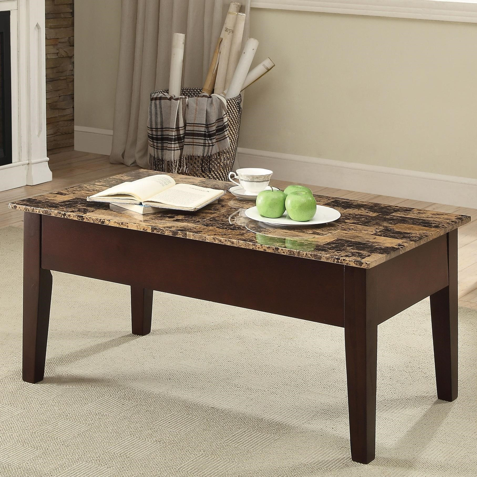 Dusty II Coffee Table by Acme Furniture at A1 Furniture & Mattress