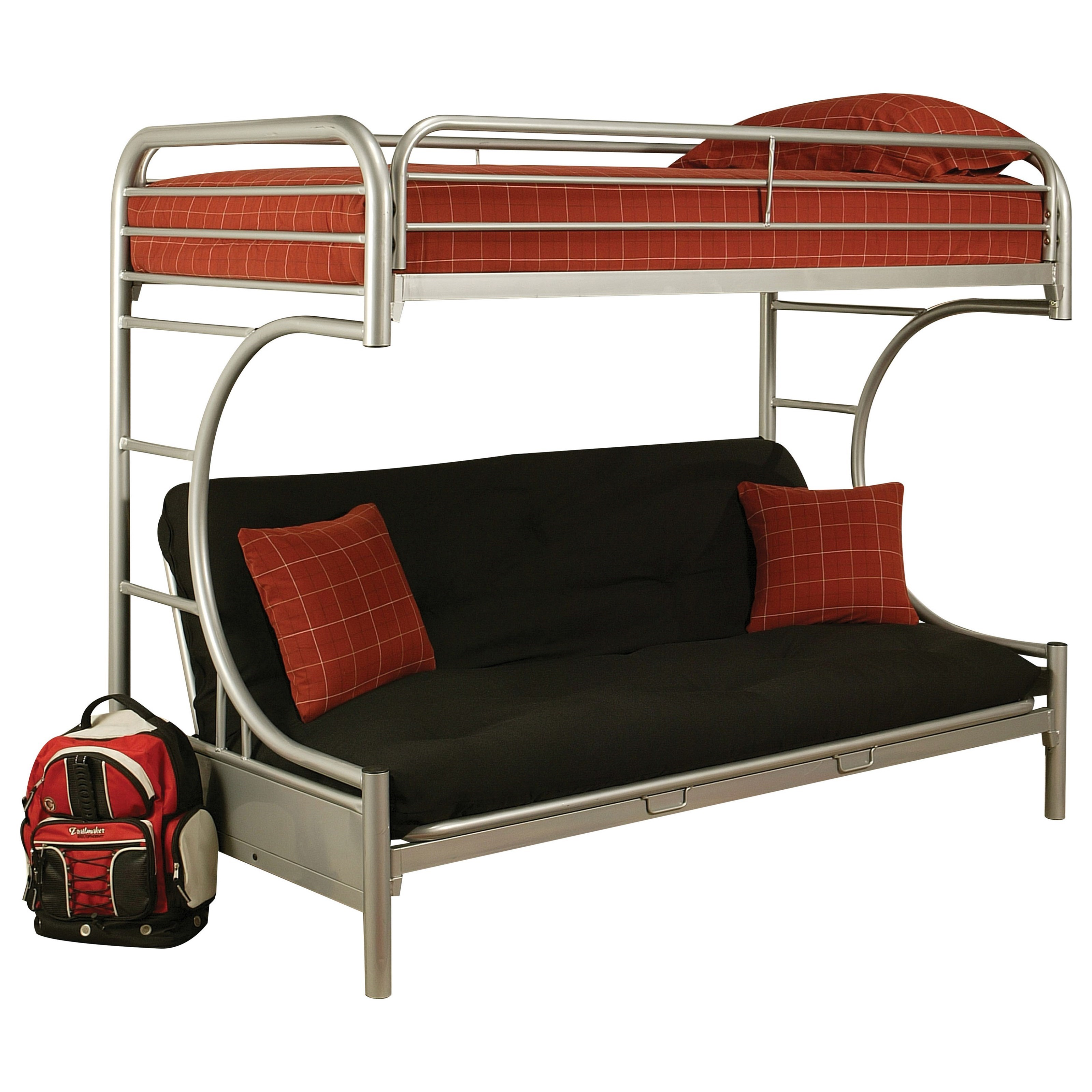 Eclipse Twin XL/Queen Futon Bunk Bed by Acme Furniture at Del Sol Furniture