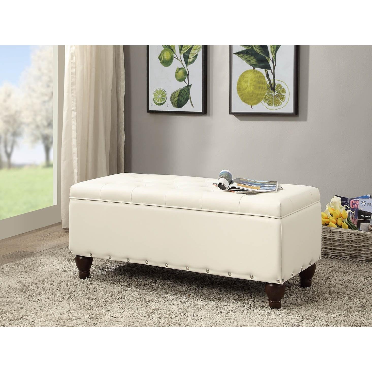Estee Bench w/ Storage by Acme Furniture at Carolina Direct