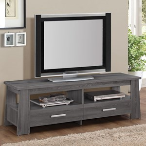 TV Stand with 2 Open Storage Compartments