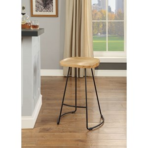 Set of 2 Industrial Counter Height Bar Stools