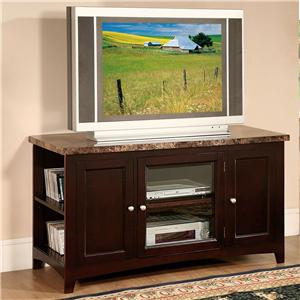 Acme Furniture Finely TV Stand W/Faux Marble Top