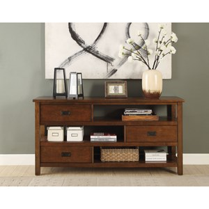 Transitional Console Table with Storage