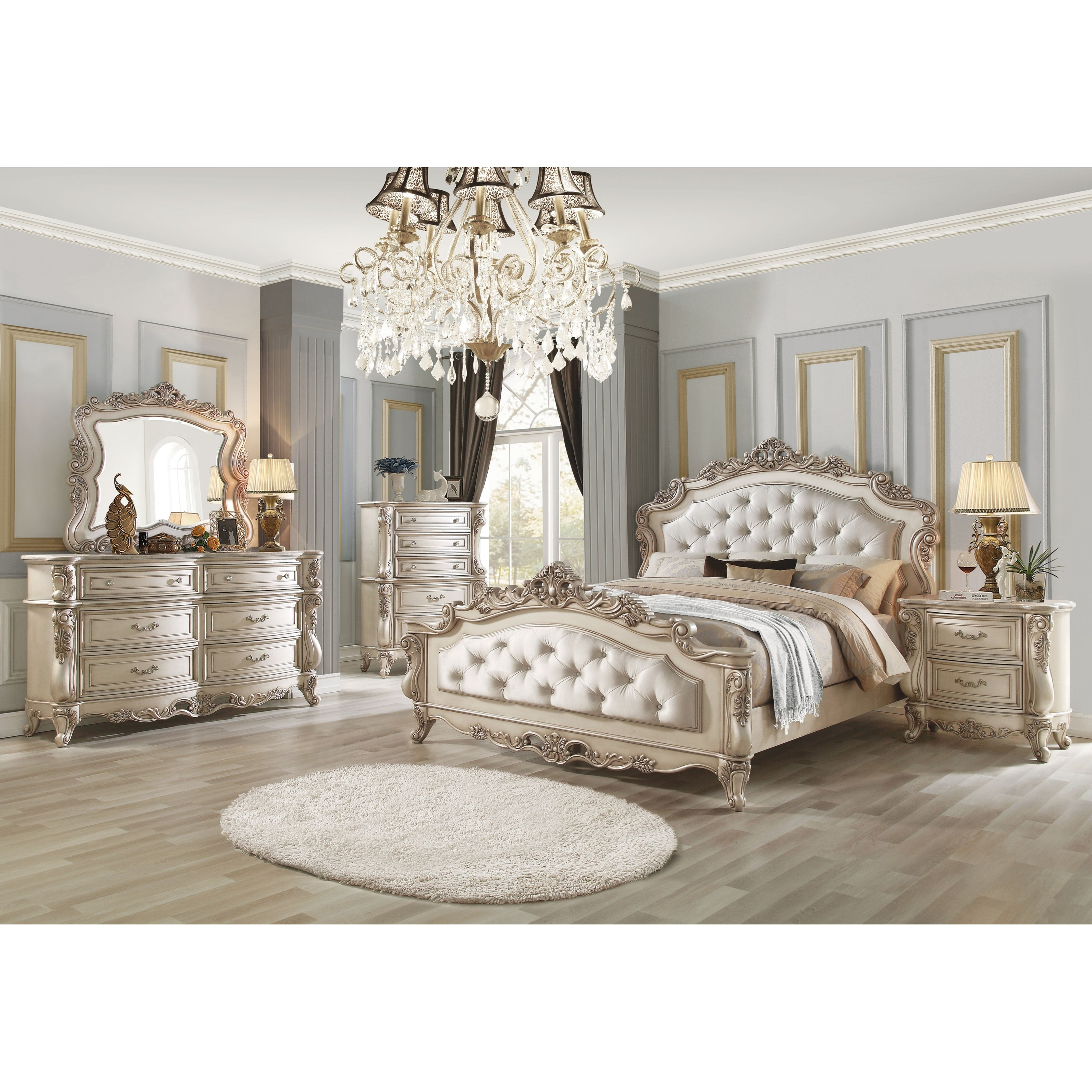 Gorsedd California King Bedroom Group by Acme Furniture at A1 Furniture & Mattress