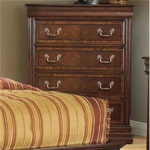 Traditional Chest of Four Drawers with Bracket Feet