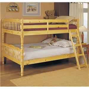 Natural Full Size Bunk Bed
