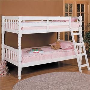 White Twin Size Bunkbed