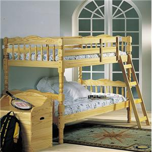 Natural Twin Size Bunkbed