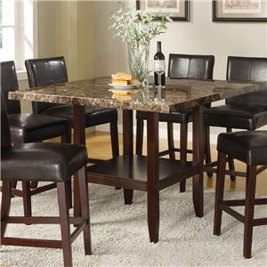 Acme Furniture Idris Faux Marble Counter Height Table