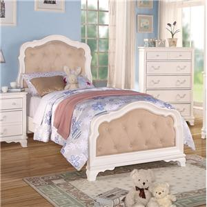 Youth Full Bed W/ Button-Tufted Headboard and Footboard