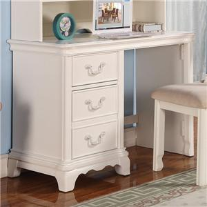 Three-Drawer Single Pedestal Youth Desk