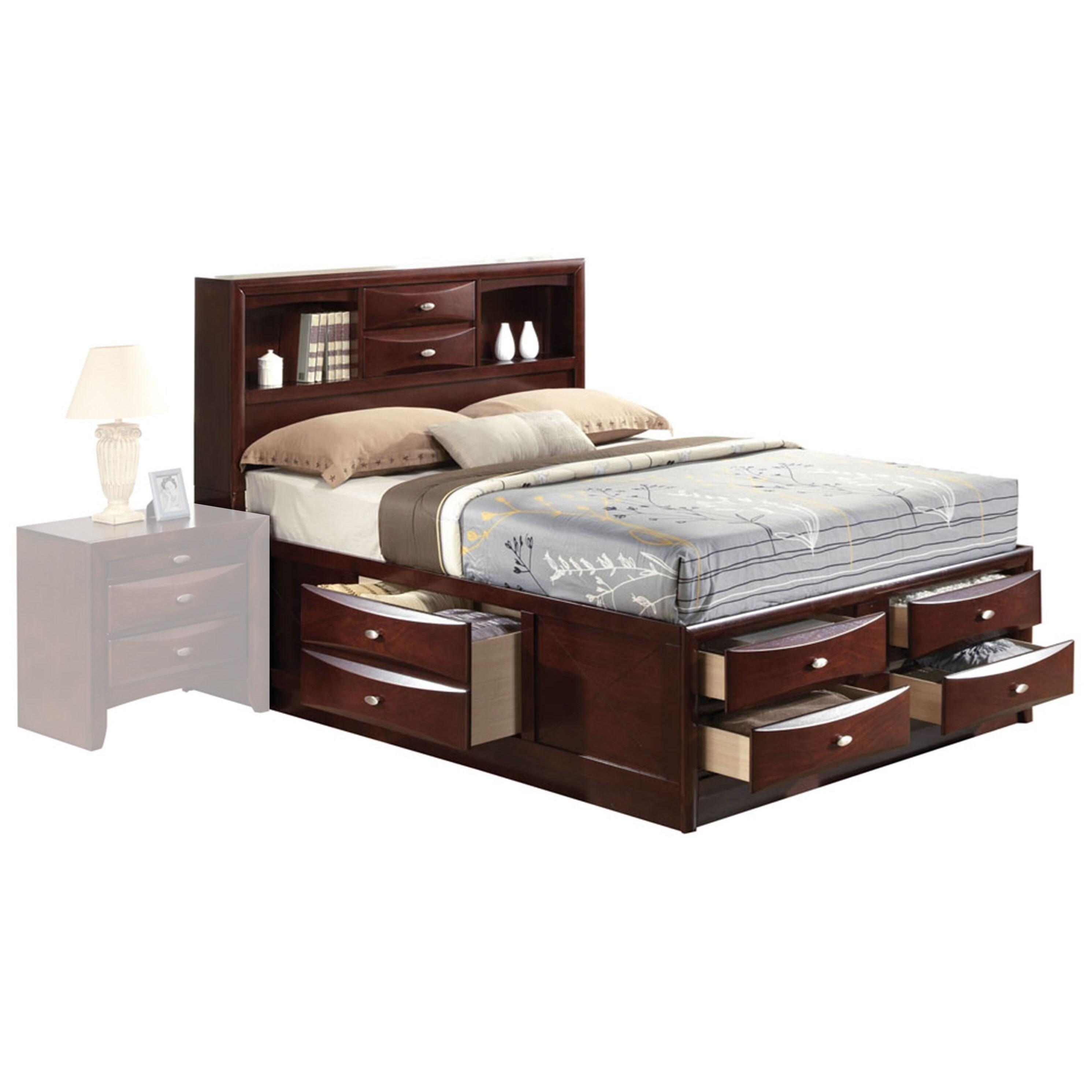 Ireland  Storage - Espresso Full Bed w/Storage by Acme Furniture at A1 Furniture & Mattress