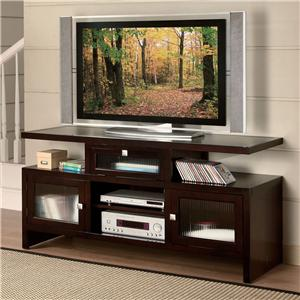 Folding TV Stand with 3 Doors