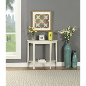 Transitional Console Table with Shelf