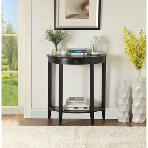 Transitional Console Table with Drawer