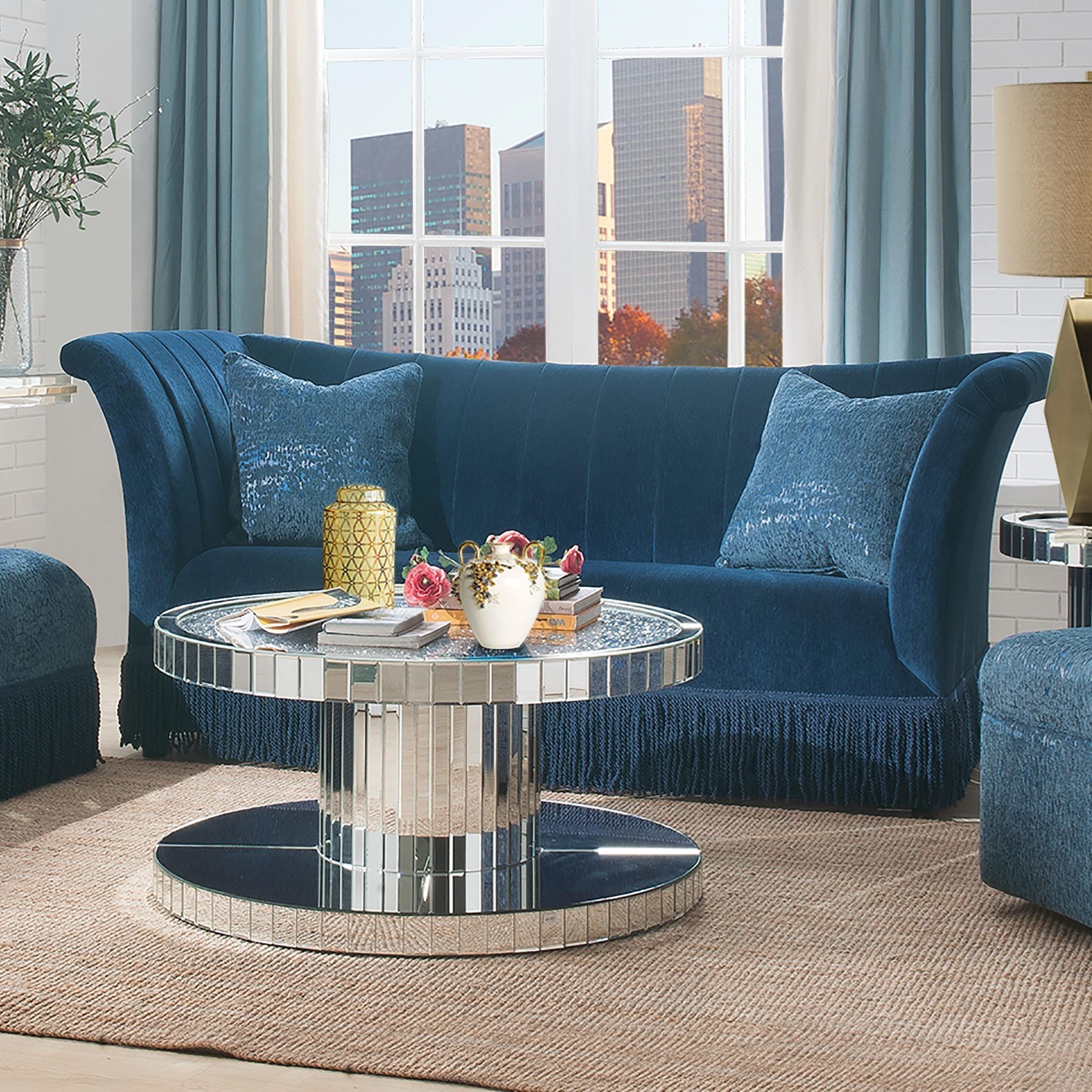 Kaffir Sofa w/2 Pillows by Acme Furniture at Carolina Direct
