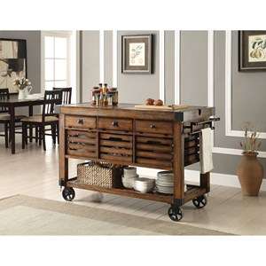 Industrial Kitchen Cart with Casters
