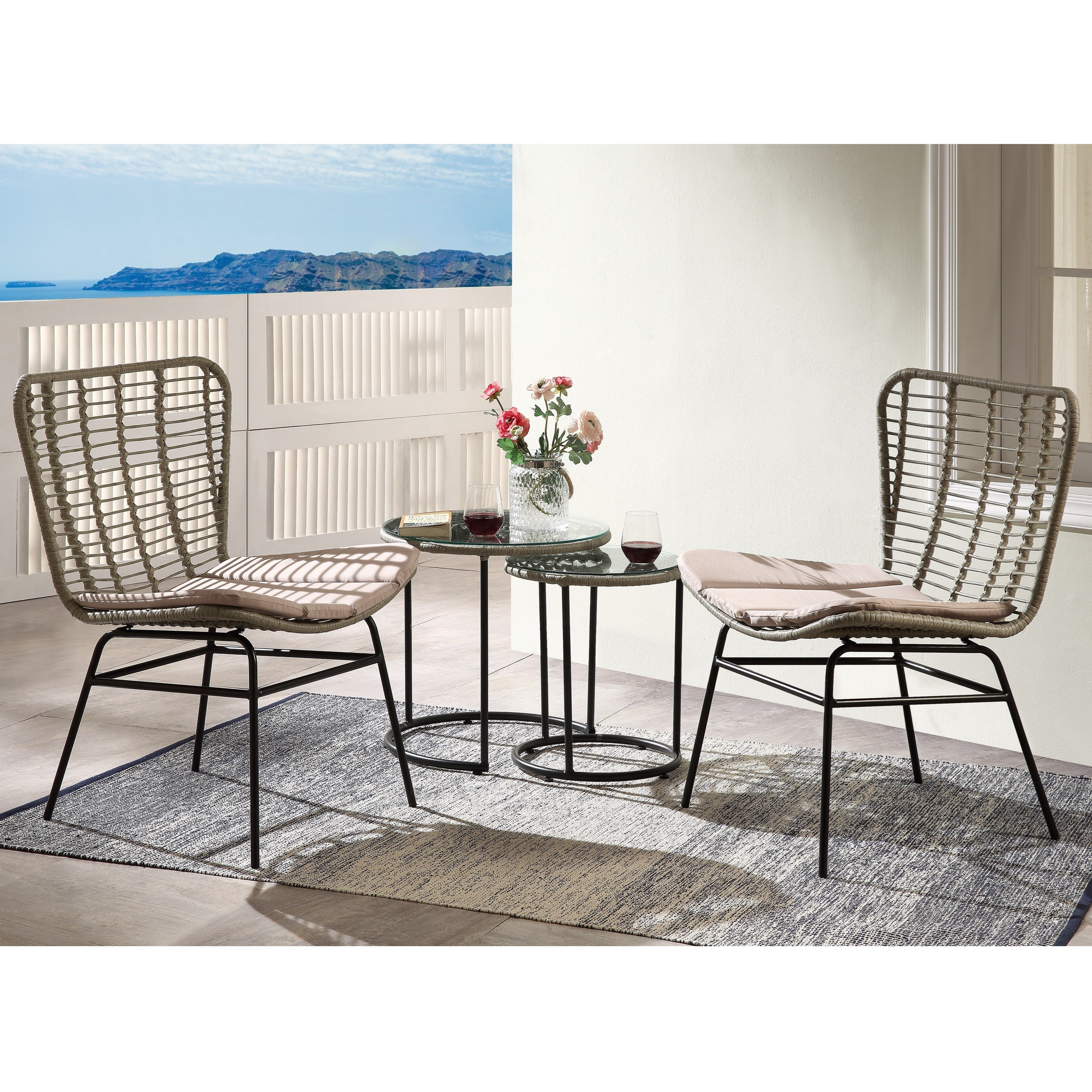 Kanga 4Pc Patio Set by Acme Furniture at A1 Furniture & Mattress