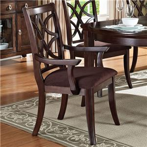 Transitional Dining Arm Chair