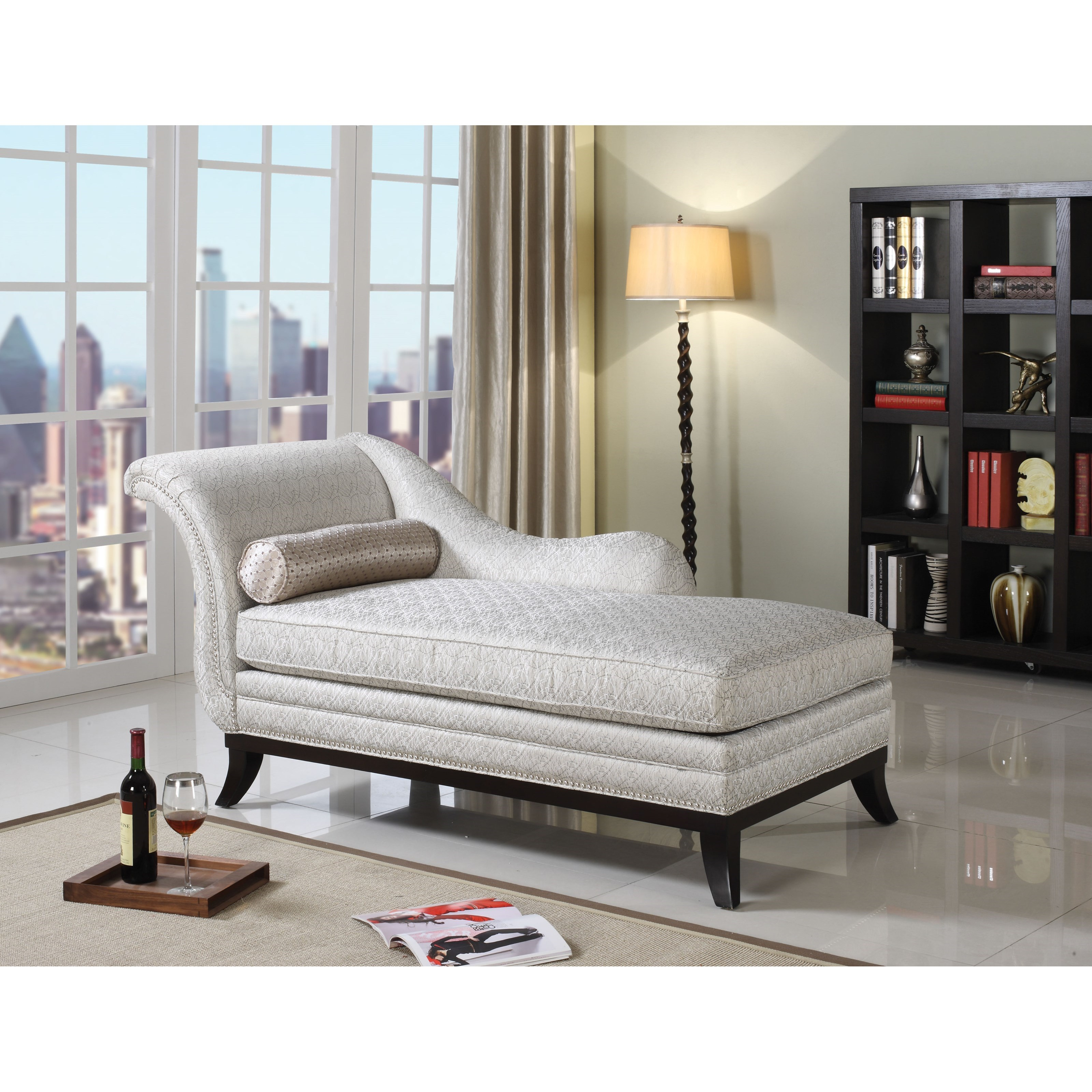 Kimbra Chaise & Pillow by Acme Furniture at Carolina Direct