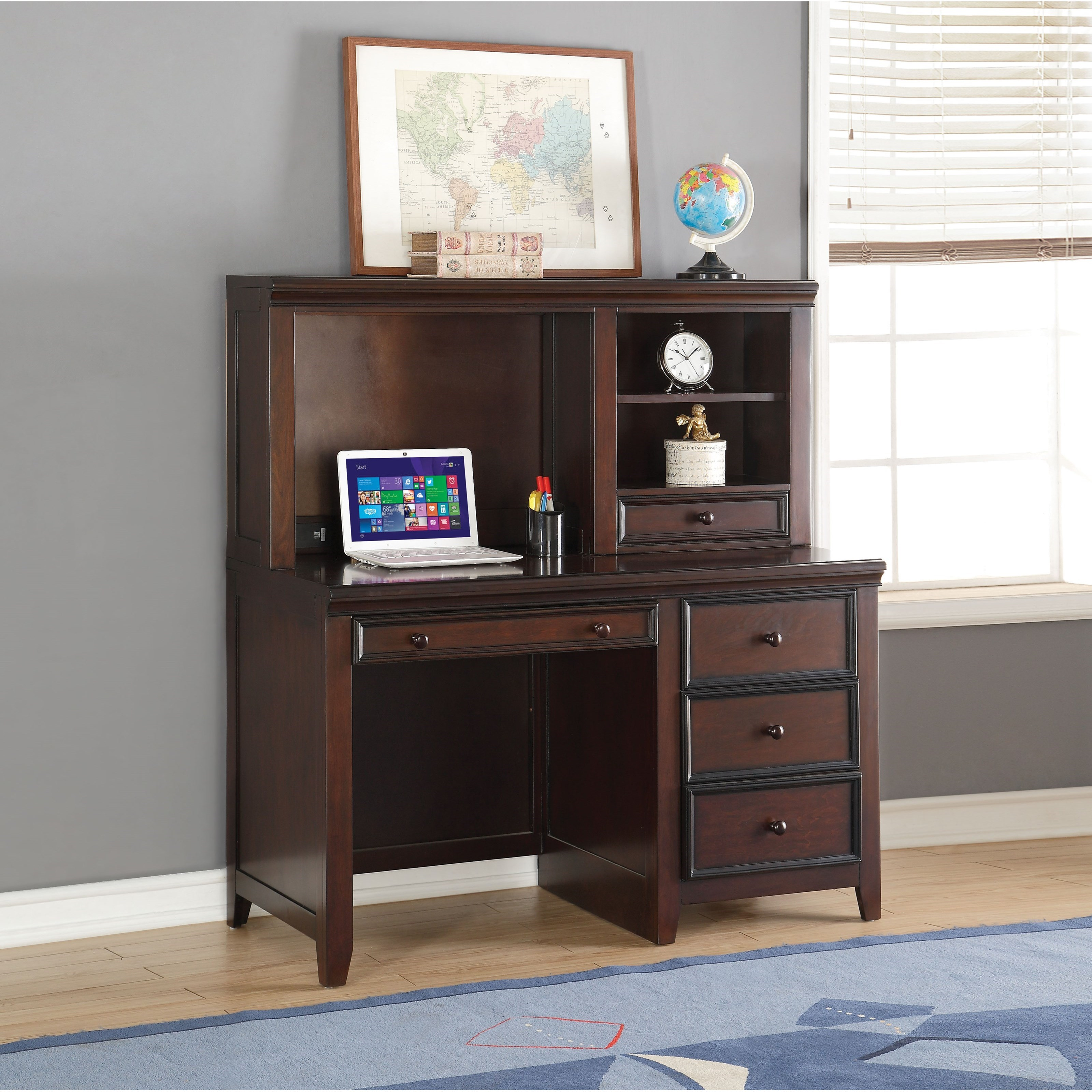 Lacey Computer Desk and Hutch by Acme Furniture at Carolina Direct
