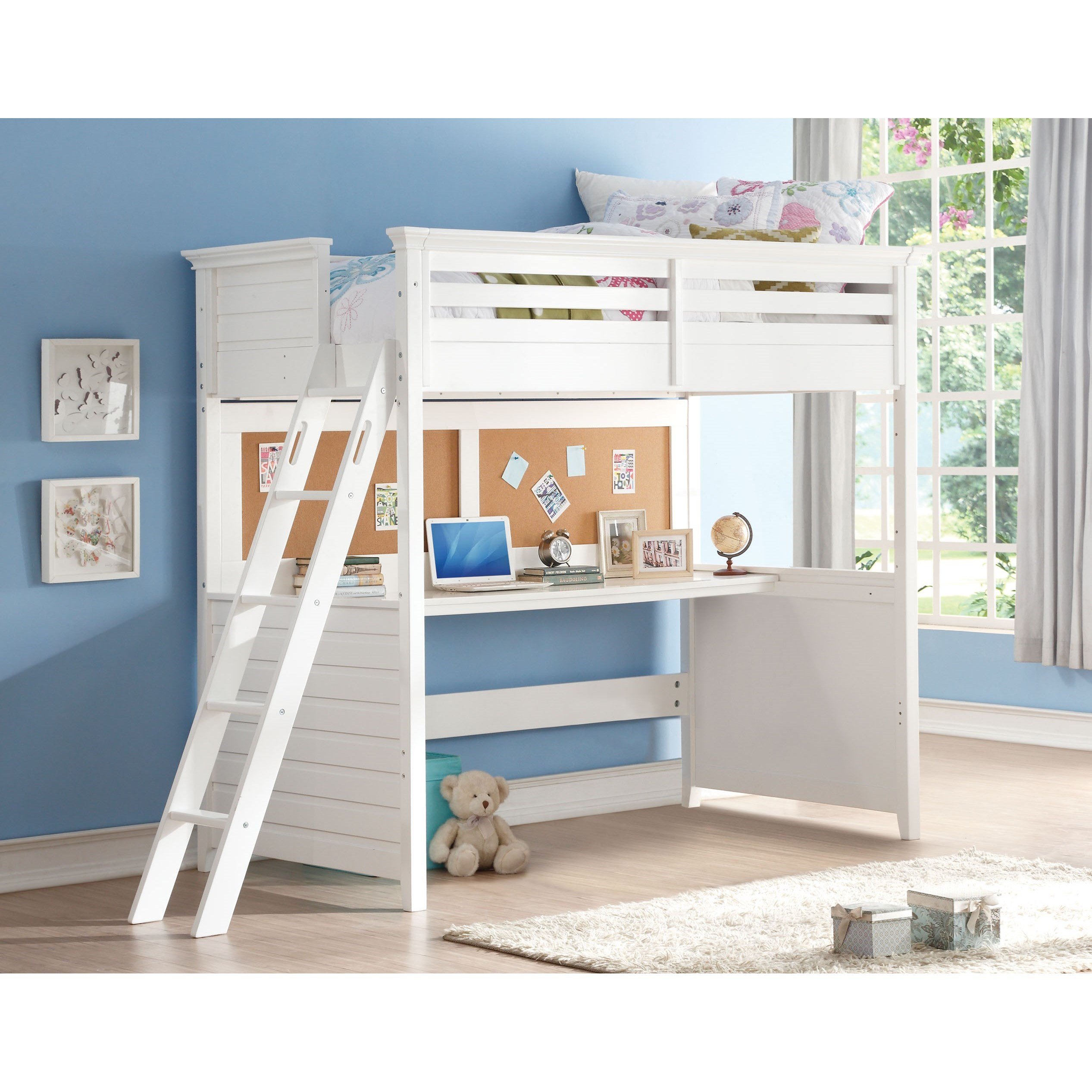 Lacey Twin Loft Bed by Acme Furniture at Carolina Direct