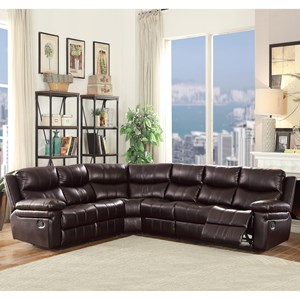 Casual 5-Seat Reclining Sectional Sofa