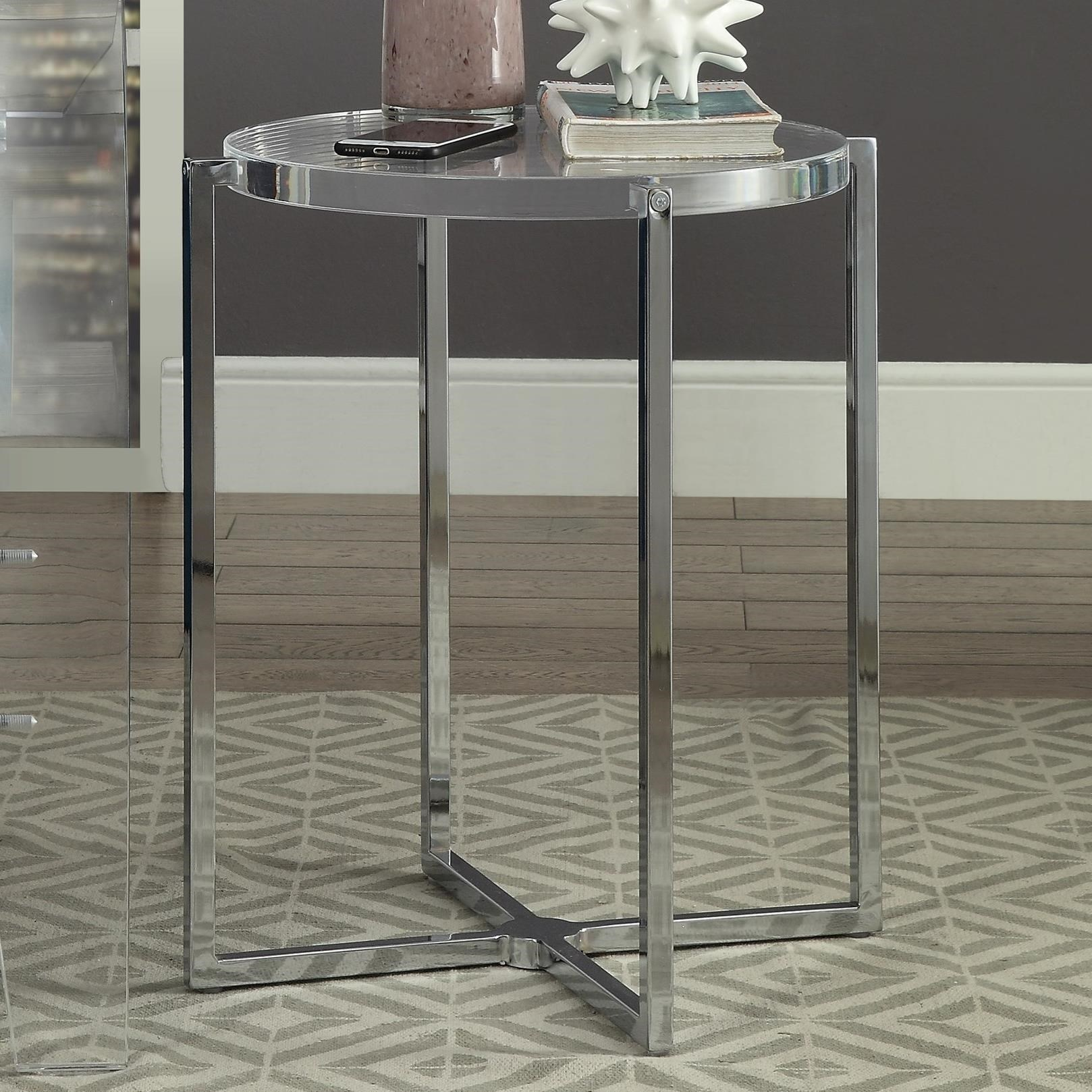 Leora Side Table by Acme Furniture at A1 Furniture & Mattress