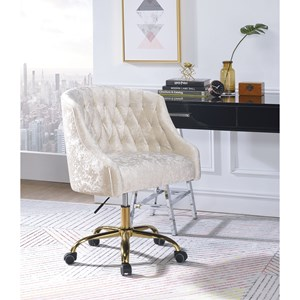 Glam Desk Chair with Button Tufting
