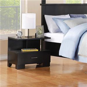Contemporary One-Drawer Nightstand