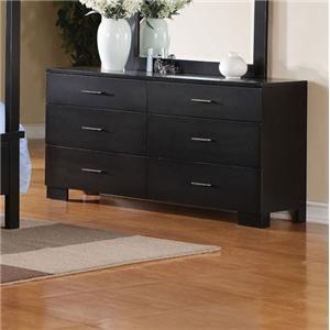 Contemporary Dresser W/Brushed Nickel Hardware