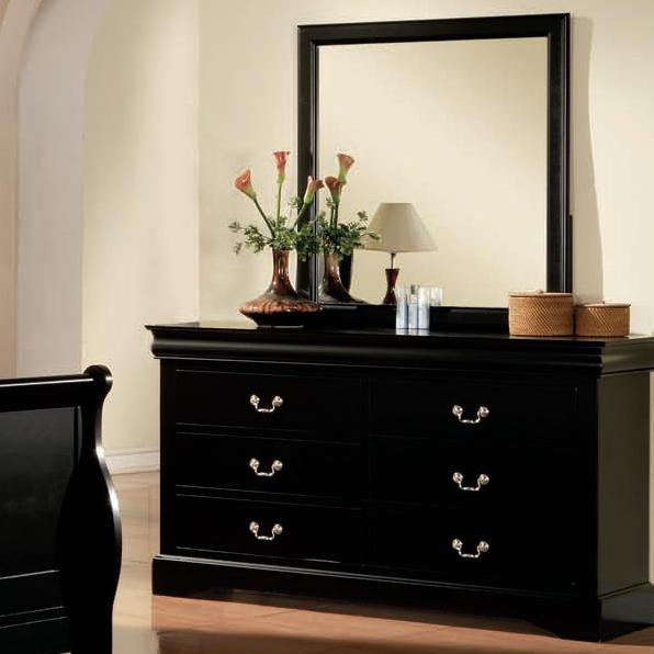 Louis Philippe III Dresser and Mirror by Acme Furniture at Carolina Direct