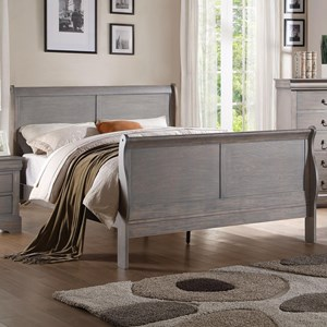 Queen Transitional Sleigh Bed