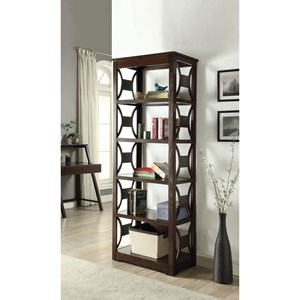 Transitional Bookcase with 5 Shelves