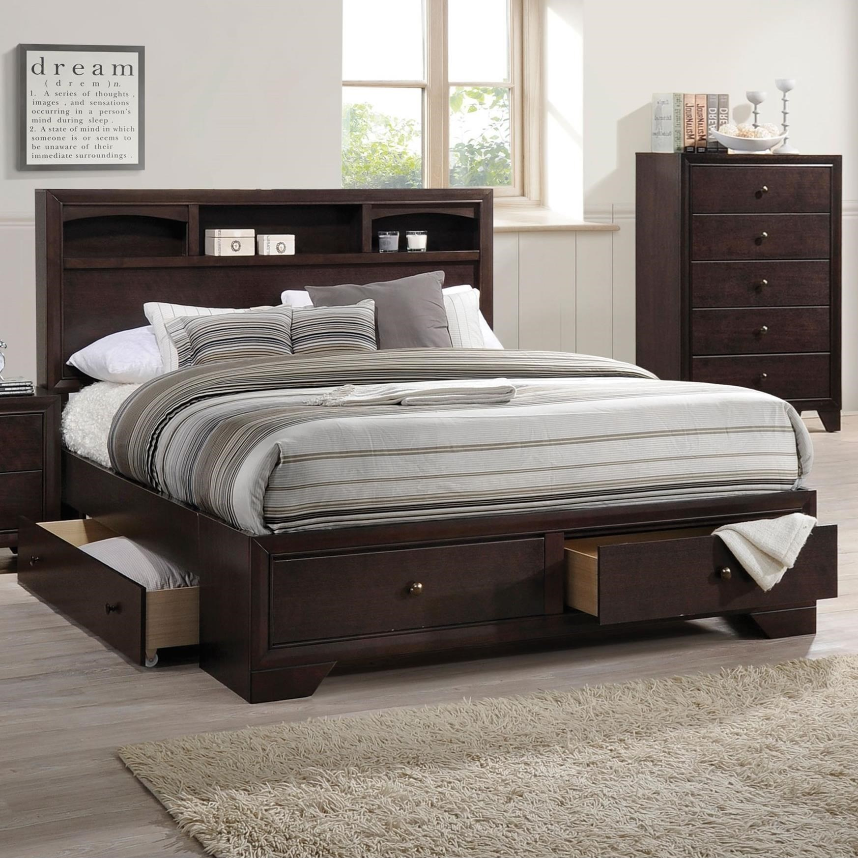 Madison II Queen Bed w/Storage by Acme Furniture at Del Sol Furniture