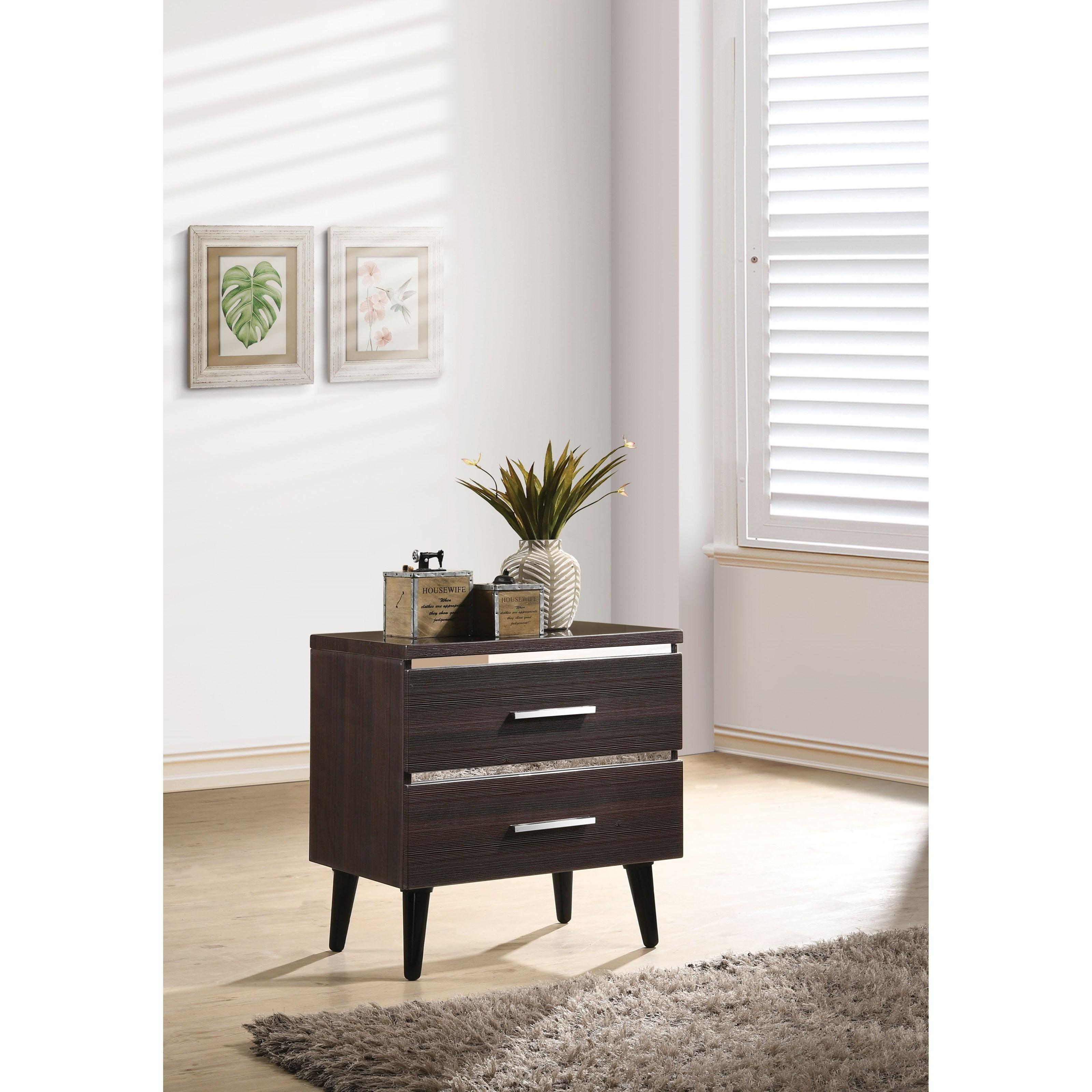 Mahda Nightstand by Acme Furniture at Carolina Direct