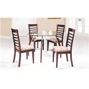 Acme Furniture Martini 5-Piece Dining Table and Chair Set