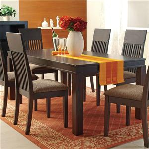 Espresso Mission-Style Casual Dining Table