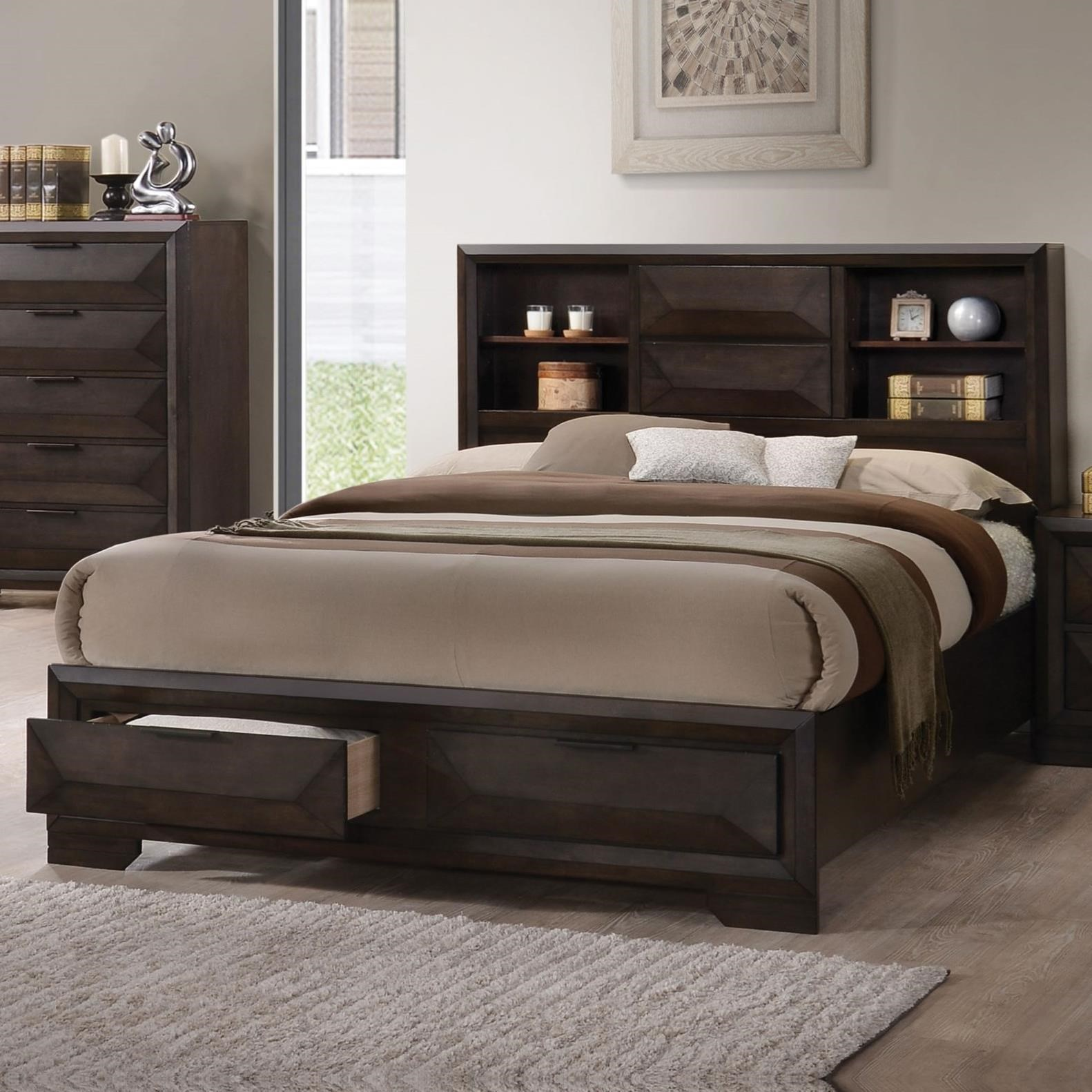 Merveille Eastern King Bookcase Bed  by Acme Furniture at Del Sol Furniture