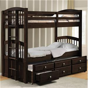 Twin Bunk Bed W/ Trundle and Drawer Storage