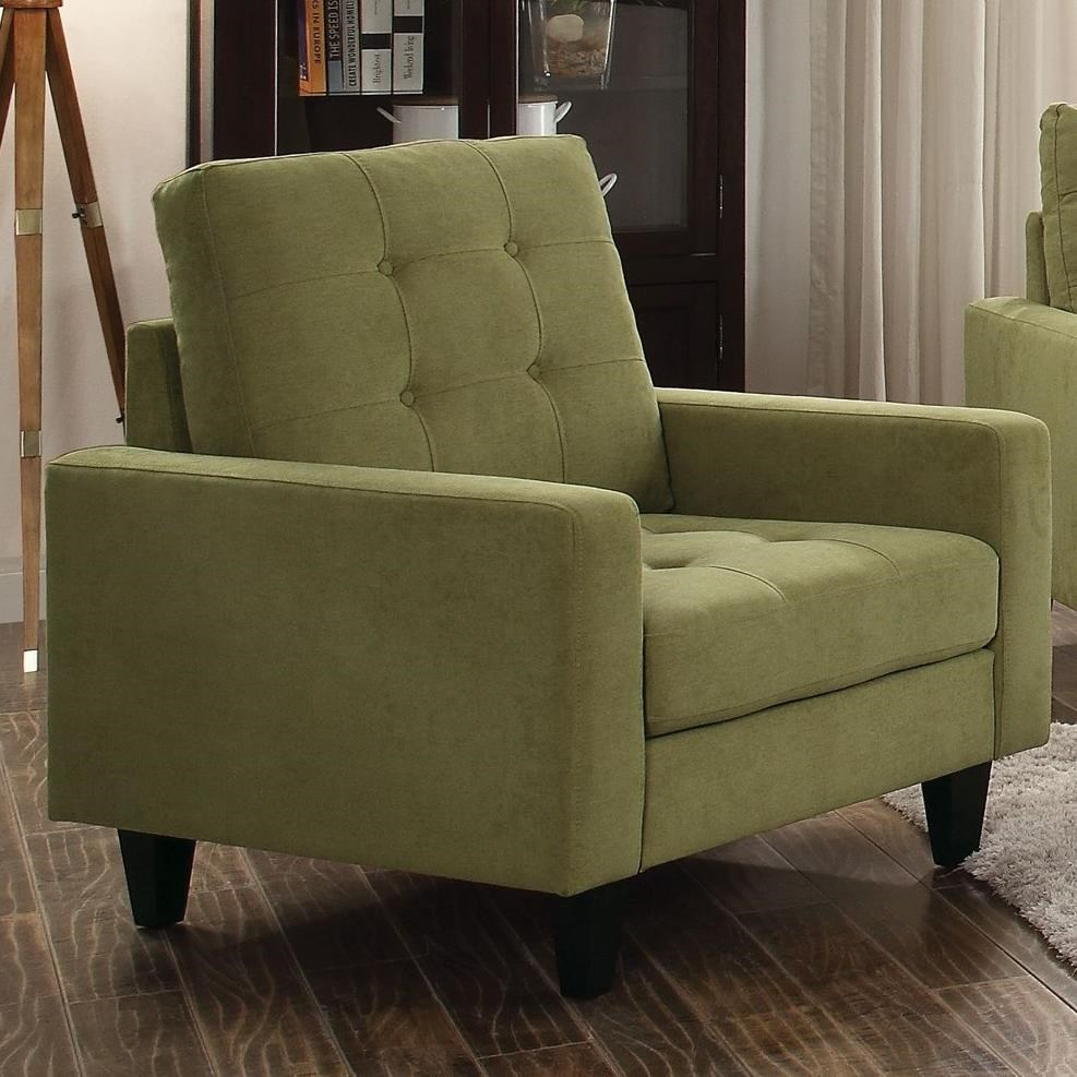 Nate Upholstered Chair by Acme Furniture at A1 Furniture & Mattress