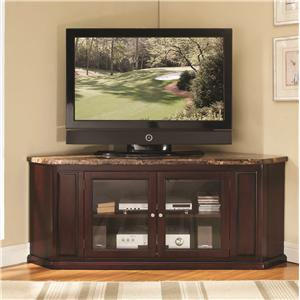 Corner TV Stand W/ Faux Marble Top