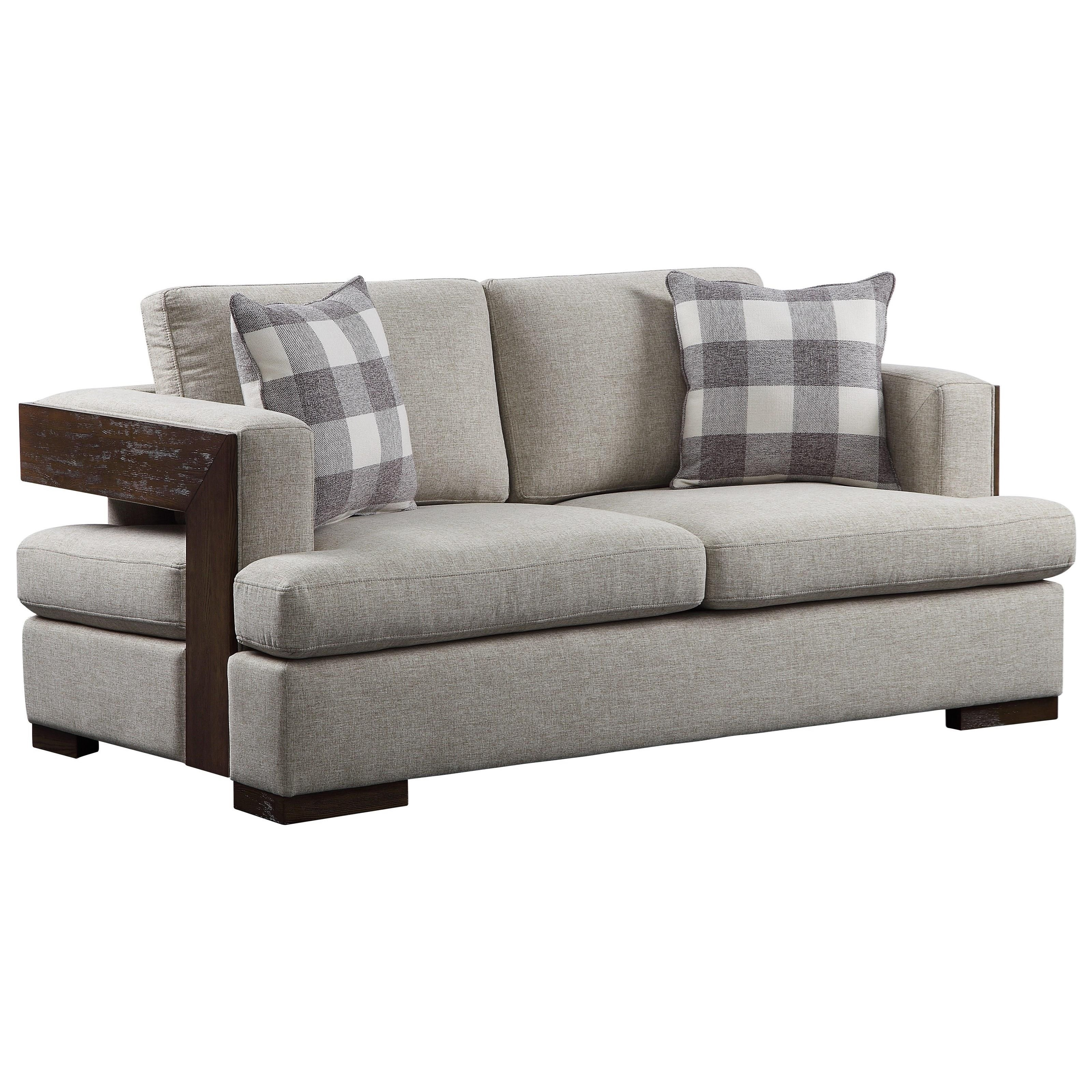 Niamey Loveseat w/2 Pillows by Acme Furniture at A1 Furniture & Mattress