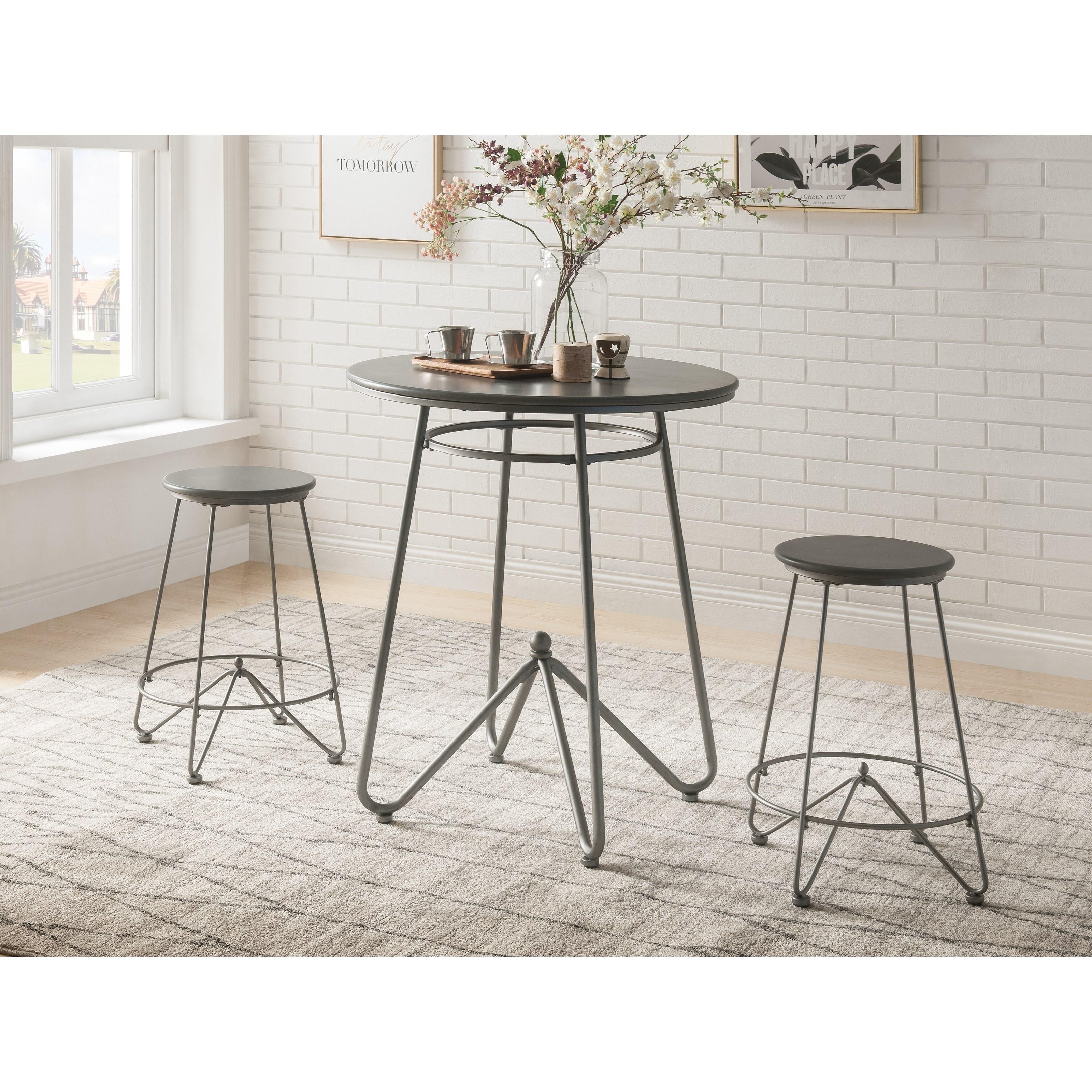 Nimai 3-Piece Counter Height Set by Acme Furniture at Carolina Direct