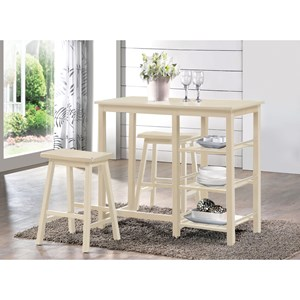 2 Piece Counter Height Table Set