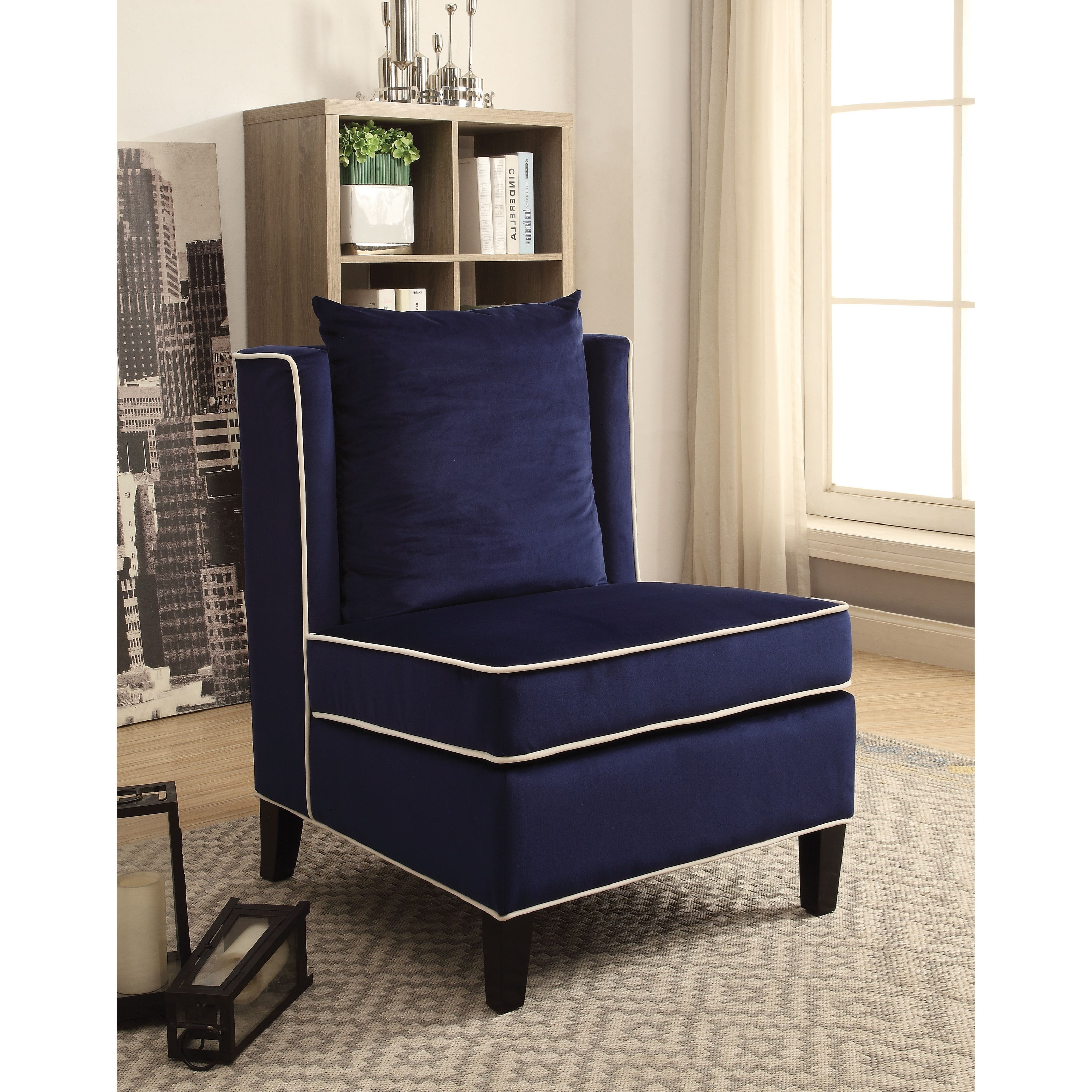 Ozella Upholstered Accent Chair by Acme Furniture at Del Sol Furniture